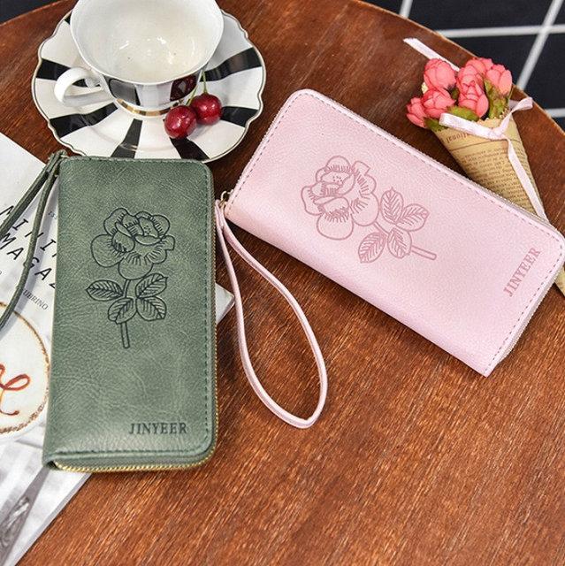 Женский кошелек с розой