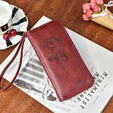 Женский кошелек с розой, фото 4
