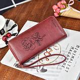 Женский кошелек с розой, фото 5