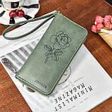 Женский кошелек с розой, фото 7