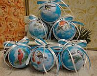 """Новогодние шары  """"Зимние птицы"""""""