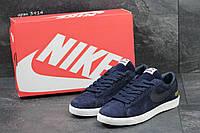 Кроссовки мужские Nike Supreme найк -темно-синие -Замша,подошва резина,размеры: 41-46 Вьетнам