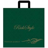 Пакет петлевая ручка Rich Style 45*43 орнамент зеленый 25шт/уп
