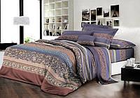 Двуспальный комплект постельного белья евро 200*220 хлопок  (8460) TM KRISPOL Украина