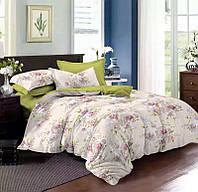 Двуспальный комплект постельного белья евро 200*220 сатин (8637) TM KRISPOL Украина