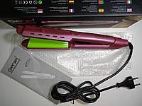 Щипцы гофре для волос Gemei GM-2957A (керамика + термоконтроль)