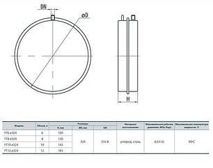 Бак плоский для систем отопления 6 л Aqua Systems, фото 2