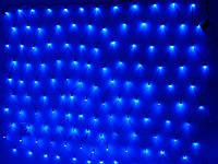 Гирлянда светодиодная сетка СИНЯЯ 120 LED (2x1.4 м)