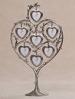 Семейное древо любовь в сердцах на 7 фото (31 см) 087-7N