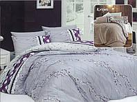 Двуспальный комплект постельного белья евро 200*220 хлопок  (8805) TM KRISPOL Украина