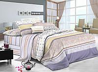 Двуспальный комплект постельного белья евро 200*220 хлопок  (8800) TM KRISPOL Украина