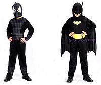 """Карнавальный костюм """"Спайдермен-Бетмен"""", S/M/L (110-140см), 2в1 трансформ, комбинезон/маска/ремень, в пак."""