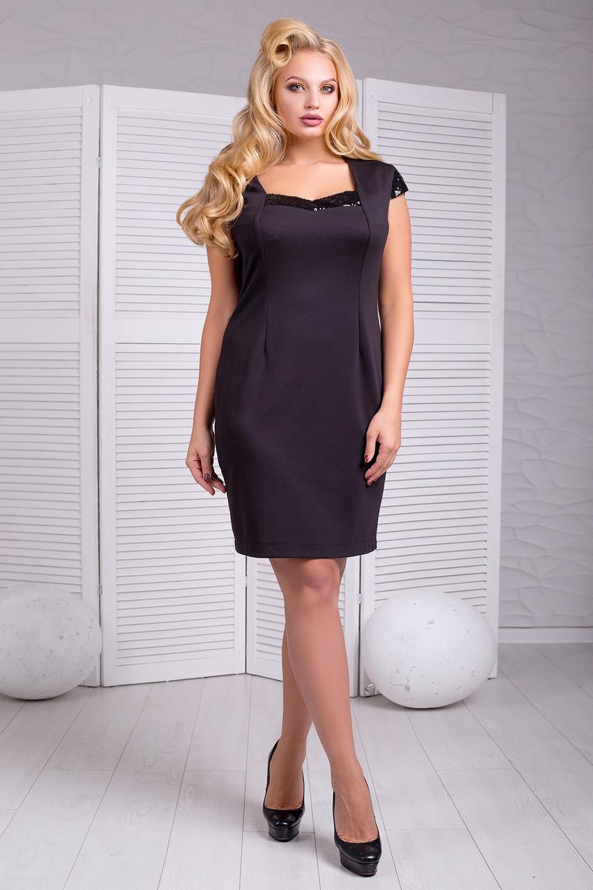 2f5a254deab Купить маленькое черное платье большого размера Niagara 50–58р. в  расцветках черный - Интернет