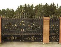Ворота кованые с калиткой. Ручная ковка. Качественная покраска с гарантией.