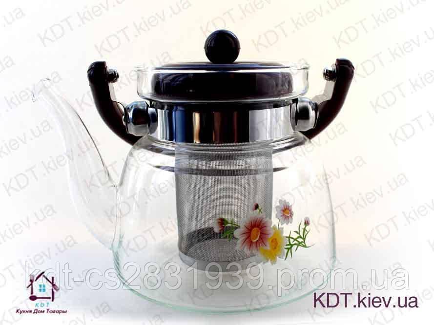 Чайник заварник стеклянной 800мл