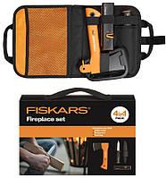 Набор подарочный Fiskars 1025441 (топор х5xxs + нож поплавок 125860 + точилка 120740 + сумка)