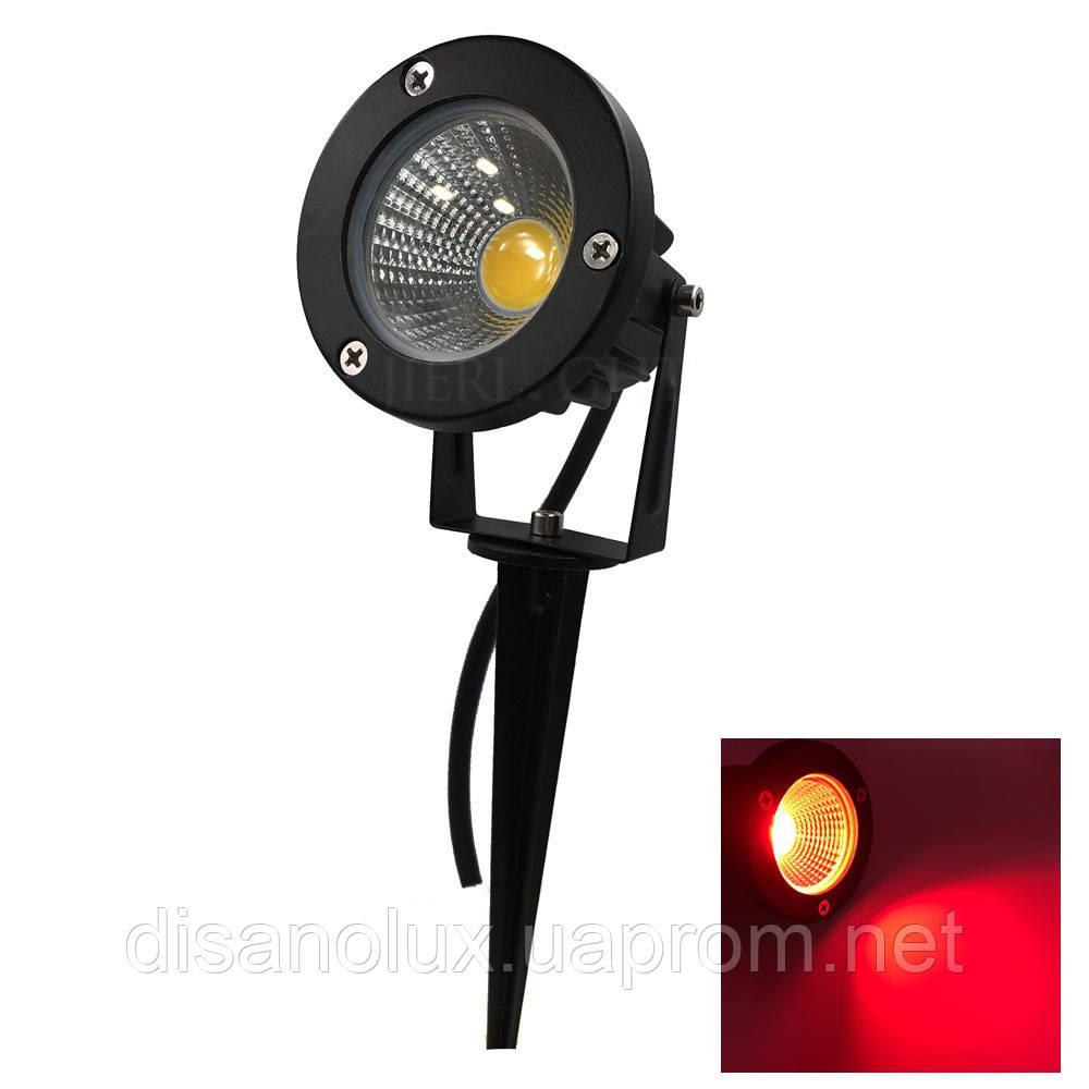 Светильник ландшафтный OL-01 Spike в грунт COB LED 9W / RED 230V IP65
