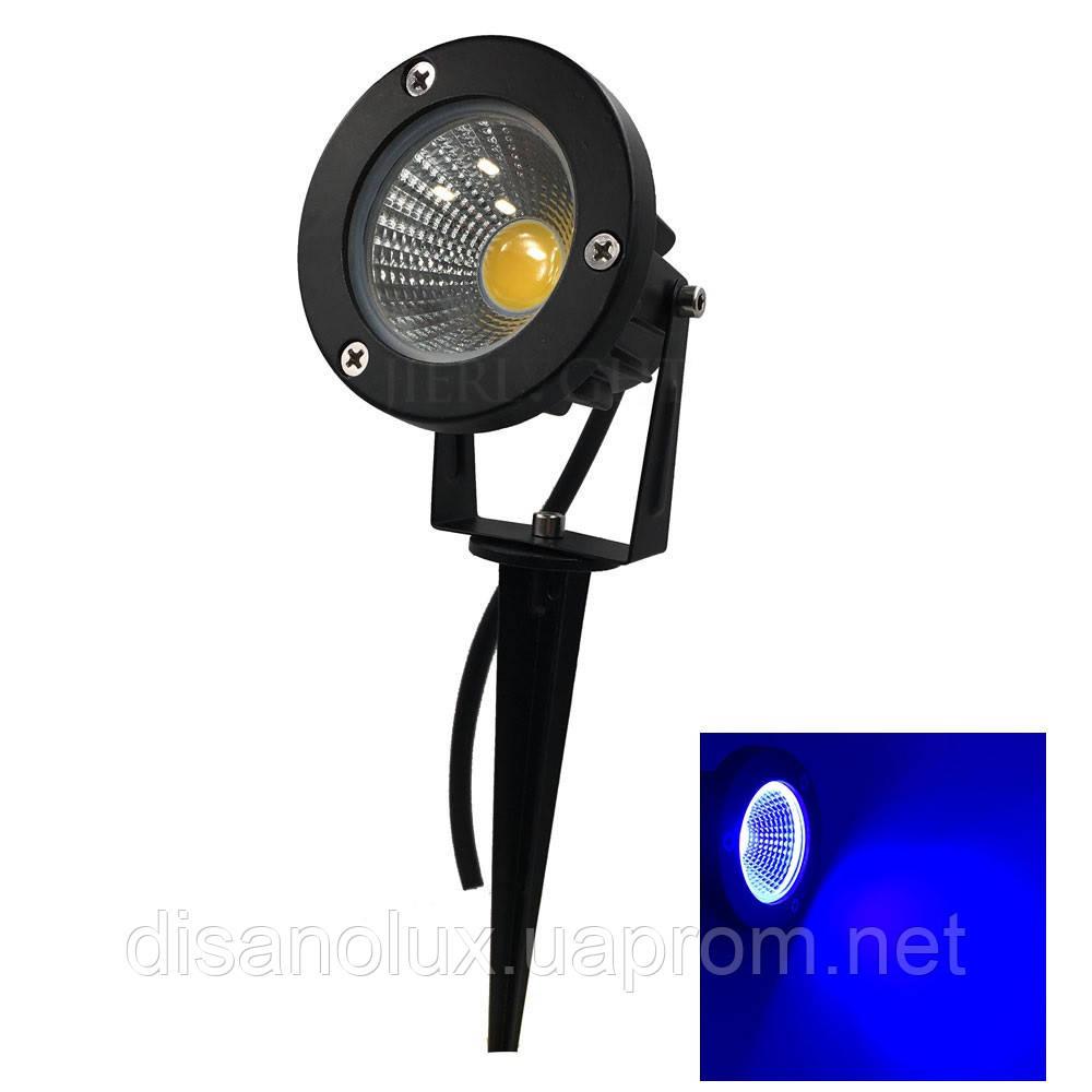 Светильник ландшафтный OL-01 Spike в грунт COB LED 9W / BLUE 230V IP65