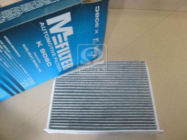 Фильтр салона VOLKSWAGEN Golf 5 (угольный) (производство M-Filter) (арт. K908C), rqz1