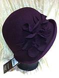 Фетровая шляпа с полями завернутыми вверх, фото 5