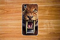 Чехол с рисунком для Blackview A8 Саблезубый тигр