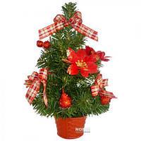 Искусственная Елка в вазоне 30см (8292) Красный цветок