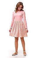 Роскошное бархатное платье плиссе для девочки