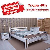 Кровать полуторная Милана Люкс с фрезеровкой 140 Олимп