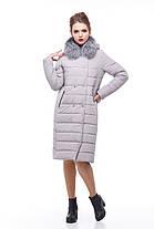 Зимнее пальто стеганое с чернобуркой большие и средние размеры 48-60, фото 2
