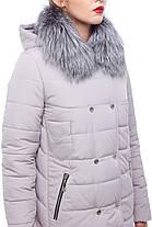 Зимнее пальто стеганое с чернобуркой большие и средние размеры 48-60, фото 3