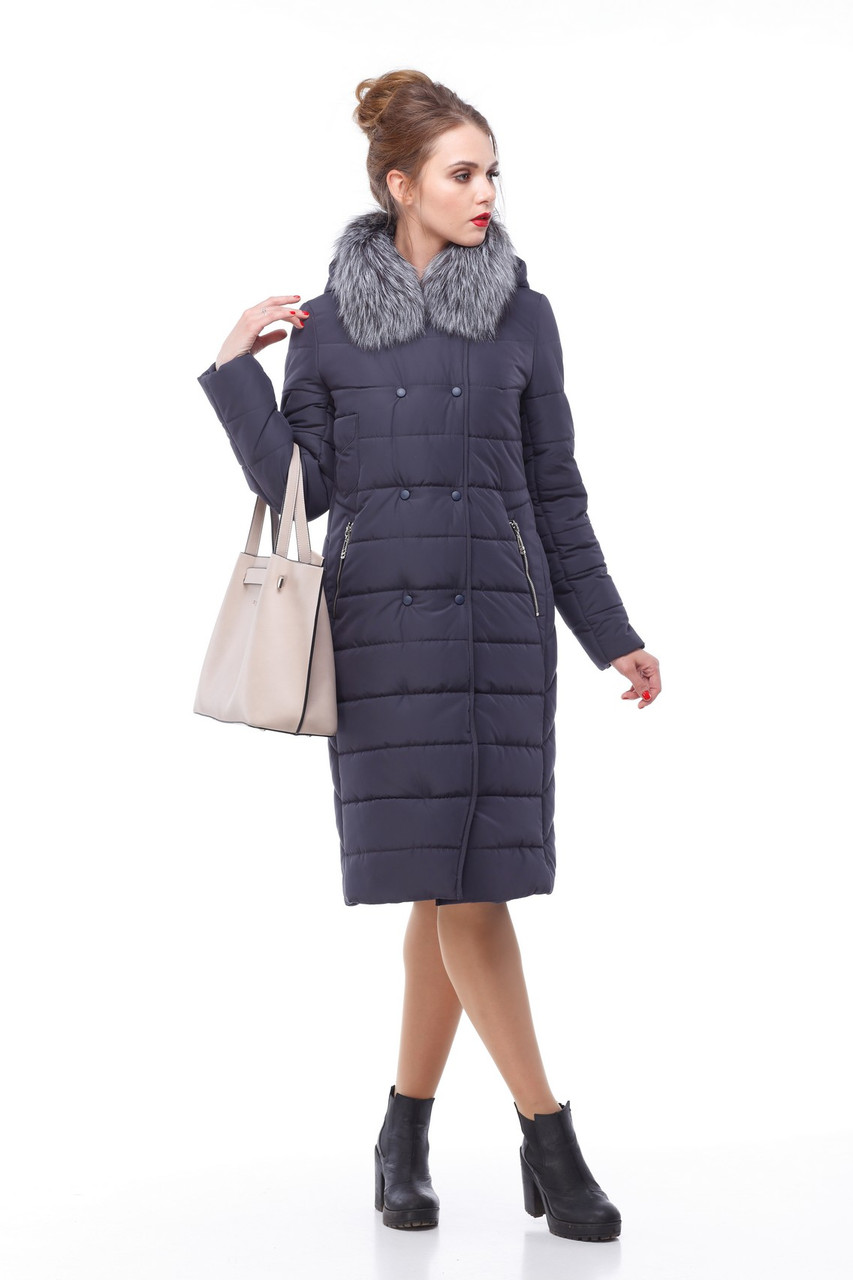 Зимнее пальто стеганое с чернобуркой большие и средние размеры 48-60