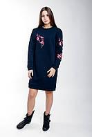 Женское платье в спортивном стиле с вышивкой, фото 1