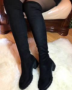 Женские ботфорты чулок на каблуке