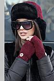 Набор женский  - шапка и митенки
