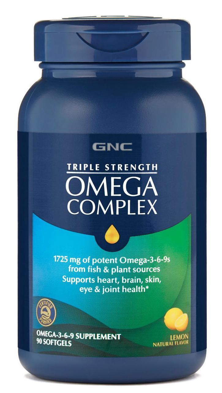GNC Triple Strength Omega Complex 3-6-9 90 softgels