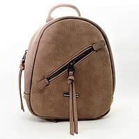 Стильный женский рюкзак из искусственной кожи желтовато-коричневого цвета PPJ-570070, фото 1