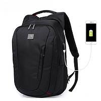 Рюкзак для ноутбука  с USB портом черный, фото 1