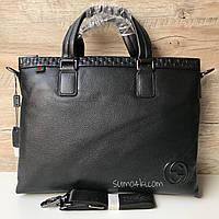 Мужской крутой кожаный портфель Gucci Гуччи
