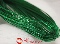 Шнур зеленый декоративный круглый люрекс (100м) , 2мм диаметр