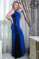 Платье женское больших размеров батал 601.1 гл $ Код:57211840