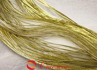 Шнур золотой декоративный круглый люрекс (100м) , 2мм диаметр