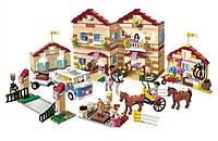 Конструктор цветной 1118 деталей bela аналог lego Bela Friends 10170 «Школа верховой езды»