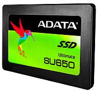 "SSD диск 120 Gb, A-Data Ultimate SU650, SATA 3, 2.5"", 3D NAND TLC, 520/450 MB/s (ASU650SS-120GT-C), твердотельный накопитель ссд 120 Гб для ноутбука и"