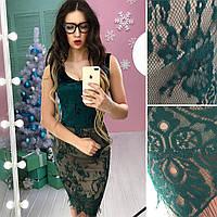 Красивое платье юбка французское кружево в расцветках АМС-1712.088(2)