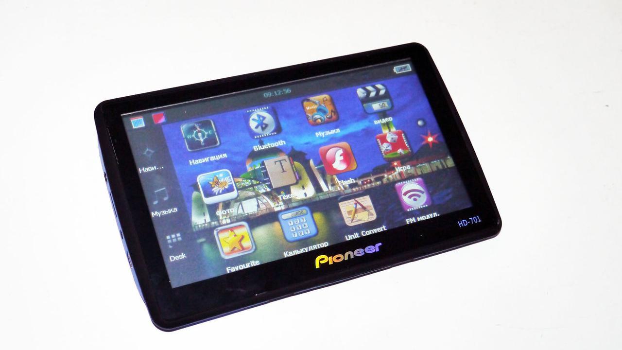 "7"" GPS Навигатор Pioneer 717BT 800Mhz 4Gb + FM + AV-in + Bluetooth"