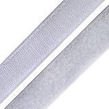 Лента-липучка, 3 см, цвет белый, 50 см, фото 2