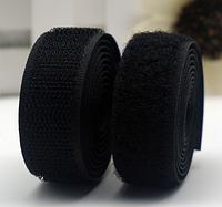 Лента-липучка, 4 см, цвет черный, 50 см