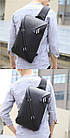 Водонепроницаемая сумка рюкзак через плечо Black Knight с USB, фото 6
