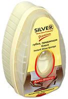 Губка-блеск для обуви с дозотором силикона Silver premium 6мл (натуральный)