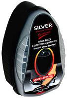Губка-блеск для обуви с дозотором силикона Silver premium 6мл (чорна)